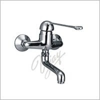 Cat No. 1041  C.P. Elbow Action Single lever Wall Mixer with Swinging Spout