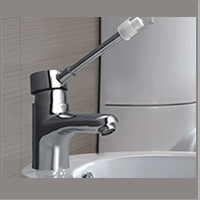 Cat No. 1125  C.P. Elbow Action Single Lever Basin Mixer